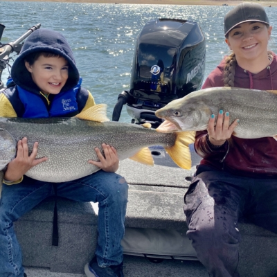 Two monster Colorado Lake trout